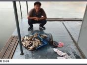 아산죽산지7/11일 주말 조황 입니다